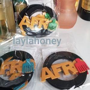 New Afro earrings